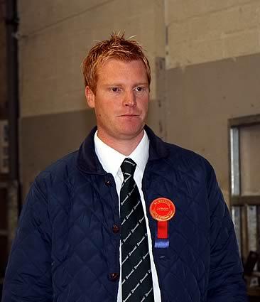 Dungannon Simmental judge Christopher Weatherup, Ballyclare.