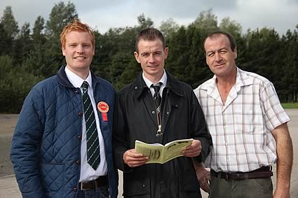 Pictured at the NI Simmental Cattle Breeders' Club's autumn show and sale, Dungannon, are from left: Christopher Weatherup, Ballyclare, judge; Richard Rodgers, vice-chairman; and Stephen Buick, Bruces Hill, sponsor.