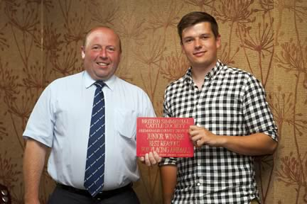 The award for the best reasons in the under 21yrs category went to Richard Cummings from Wales. He was congratulated by society president Iain Green.