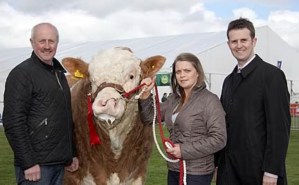 Outlining plans for the NI Simmental Club's junior stockjudging competition on Monday, July 1, are club chairman Nigel Glasgow; Young Members' Association co-ordinator Zara Stubbs; and William Thompson, Bank of Ireland, sponsor.