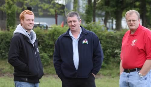 Pictured at the annual stockjudging competition, are from left: Christopher Weatherup, Ballyclare; Andrew Hanna, Irvinestown; and David Farrell, Lisbellaw.