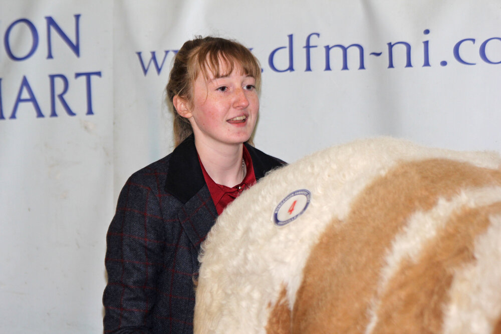 Dungannon Simmental judge Molly Bradley from Armagh.